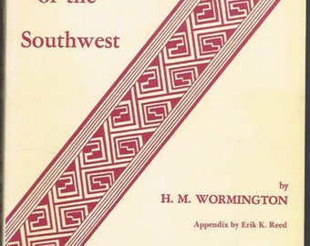 Prehistoric Indians of the Southwest.  Book by Wormington Denver, 1978 Native American History Art Craft Culture