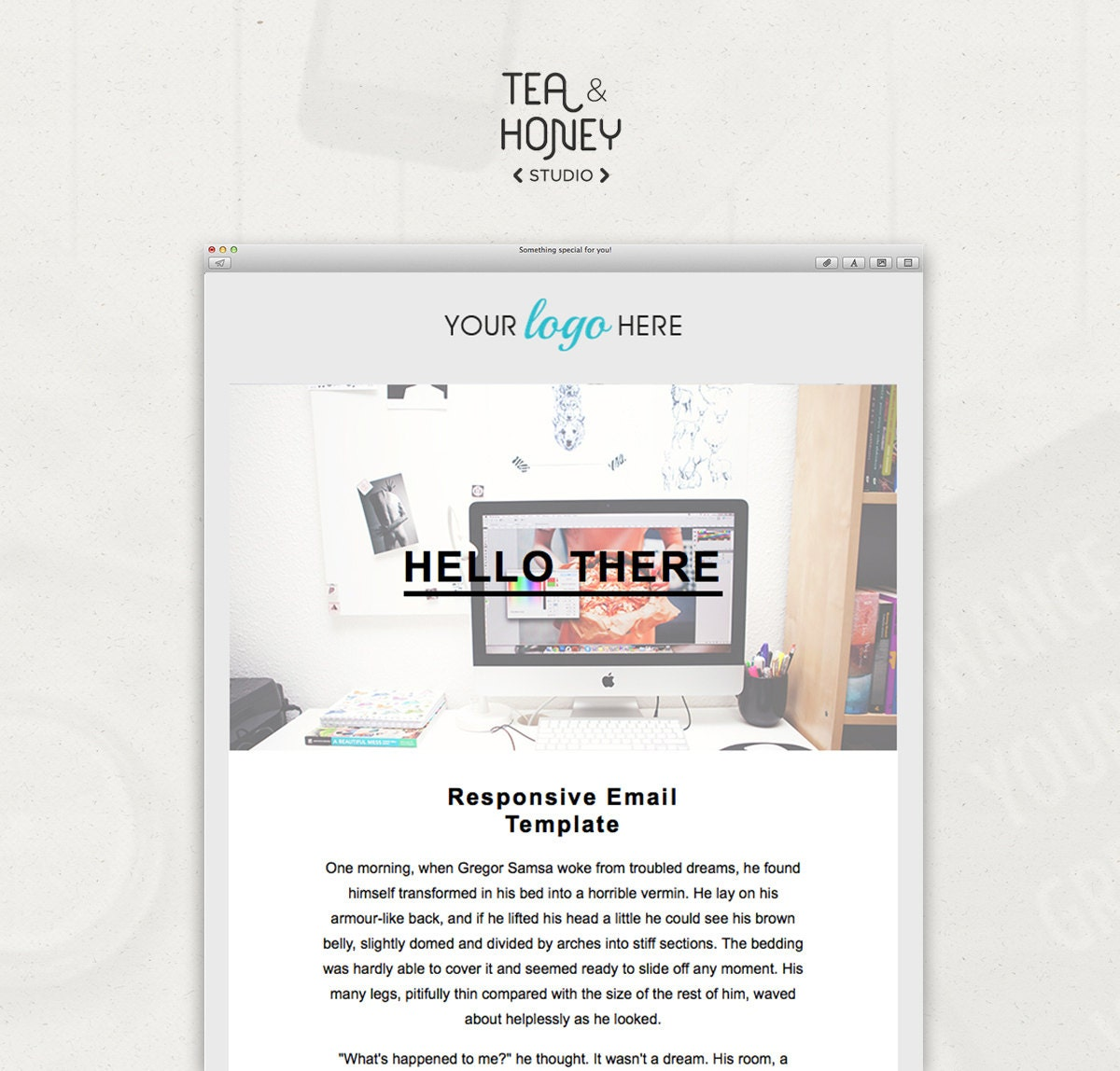 HTML Email Template Mailchimp Newsletter Design Resposive
