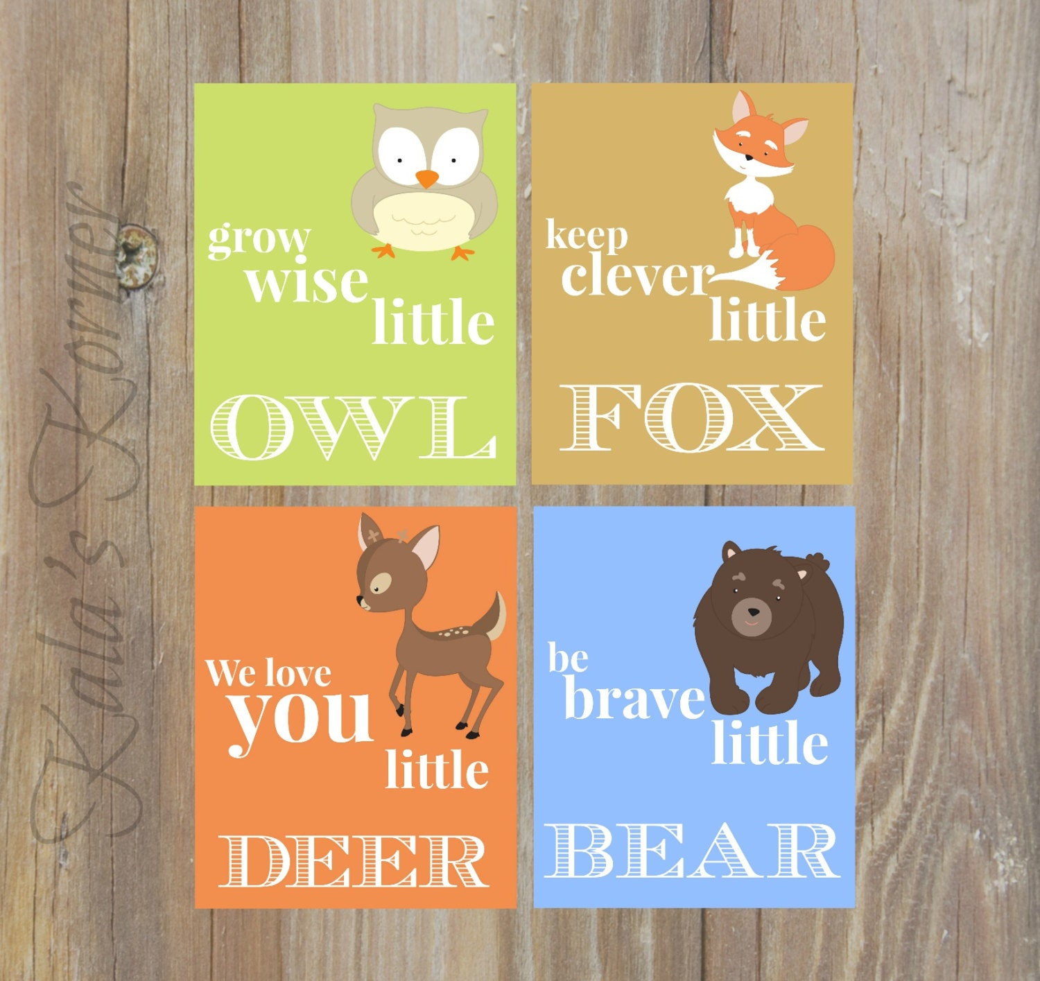 FOREST NURSERY ART Woodland Nursery Decor Forest Animals