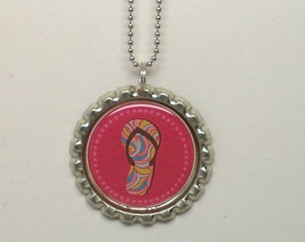 Flip Flop, Bottlecap Necklace