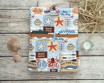 Starfish Beach Padded Book Sleeve Purse - Baby My Book, book sleeve, planner pouch, planner case, bookish, hardback sleeve, book purse
