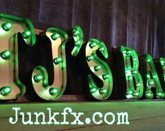 Vintage style marquee custom made bar sign