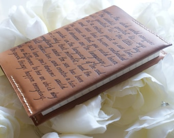 Personalized Leather Notebook cover, Refillable Leather Journal, Engraved Anniversary gift, , Personalized leather journal cover, brown