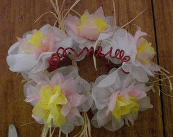 Spring color wreath