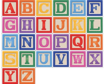 Magnetic Alphabet Blocks - ABC Magnets