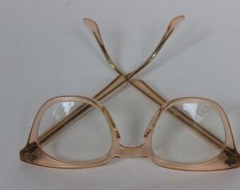 Vintage Wayfarer Pink Bausch and Lomb Safety Reading Glasses Welders Work Glasses 6