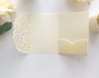 Quince invites etsy floral lace lasercut pocket folder in ivory and blush wedding invitations quince invites solutioingenieria Choice Image