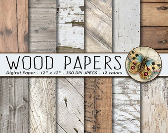 Wood Digital Paper, White Wood Digital Paper, Rustic Wood Textures, Photography Backdrop, Barn Wedding, Backgrounds, Distressed Wood Paper