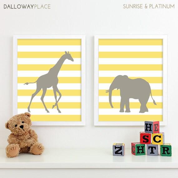 Kids Art for Children Baby Nursery Decor Zoo Jungle Nursery