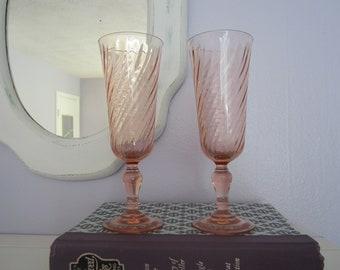 Vintage/Antique Fluted Glass Peach