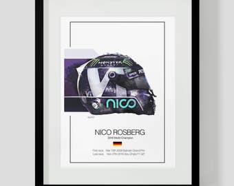 Nico Rosberg Art - Illustration Print - Only 50 for Sale - F1 Gift