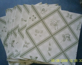 Butterflies, Bugs and Bouquets   6 x 6  Scrap Paper  Cardstock  20 Sheets