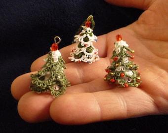 Mini 3D Christmas tree pattern and tutorial,Tatted Christmas tree pattern,shuttle tatting pattern, pdf digital instand download, pdf pattern