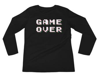 Game Over Long Sleeves Cool Gamer Gear