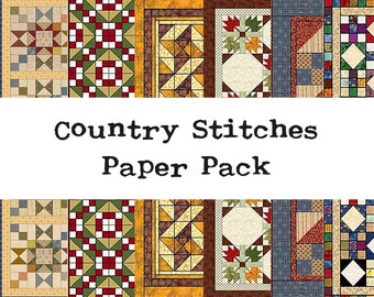 Country Stitches Mini Paper Pack