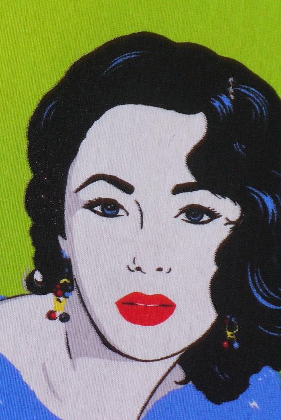 Hollywood Star, Elizabeth Fabric, Elizabeth Taylor, Andy Warhol Style, Elizabeth  Taylor Block, Home Dec Fabric, Art Deco Style