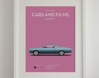 SALE Drive car movie poster, art print A3 Cars And Films, home decor prints, illustration print. Car print