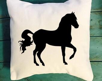 Horse throw pillow, horse farm pillow, farmhouse decor pillow, southern decor pillow, farm decor pillows