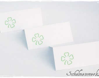 Table card with colored clover (6 pcs)