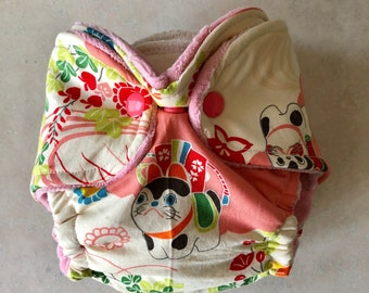 Newborn Fitted cloth diaper