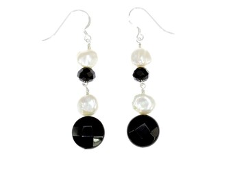Noir et Blanc Earrings
