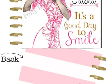 African American Girl Planner Cover, Dark Skin Girl Happy Planner Cover, For use with Erin Condern(TM), Photographers Planner, HP Cover