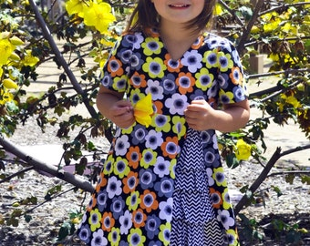 INSTANT DOWNLOAD- Zoe Dress (Sizes 12/18 months to 8) PDF Sewing Pattern and Tutorial