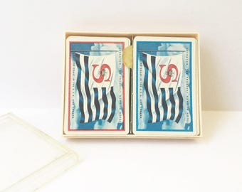 Playing cards canasta cards Sheraton cards double deck cards game night vintage playing cards