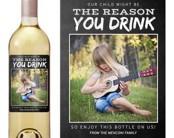 Teacher Gift - Teacher Appreciation Gift - Teacher Christmas Gift - Custom Wine Label - Wine Label for Teacher - Funny Wine Labels
