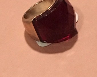 Gold and Red Ring