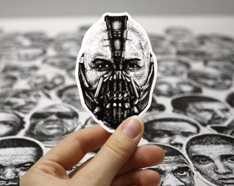 Scribbled Bane (Tom Hardy) - Vinyl Sticker