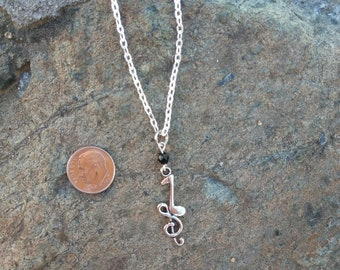 Music Note Necklace Treble Cleff