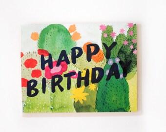 Cacti Birthday Card