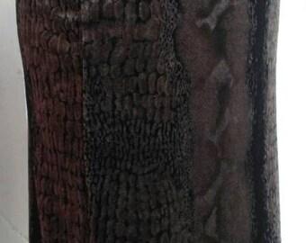 Vintage khaki python velvet skirt