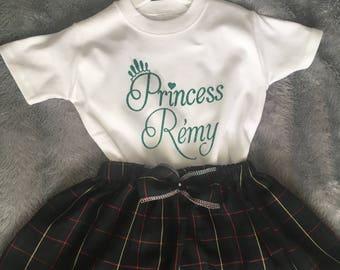 Tartan Skirt Set