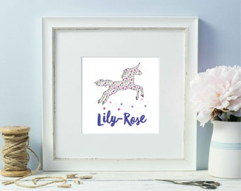 Personalised Ditsy Unicorn