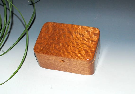 Wood Box with Tray in Mahogany and Lacewood - Desk Box, Office Acessory, Gift For Men - Handmade in the USA by BurlWoodBox - Small Wood Box