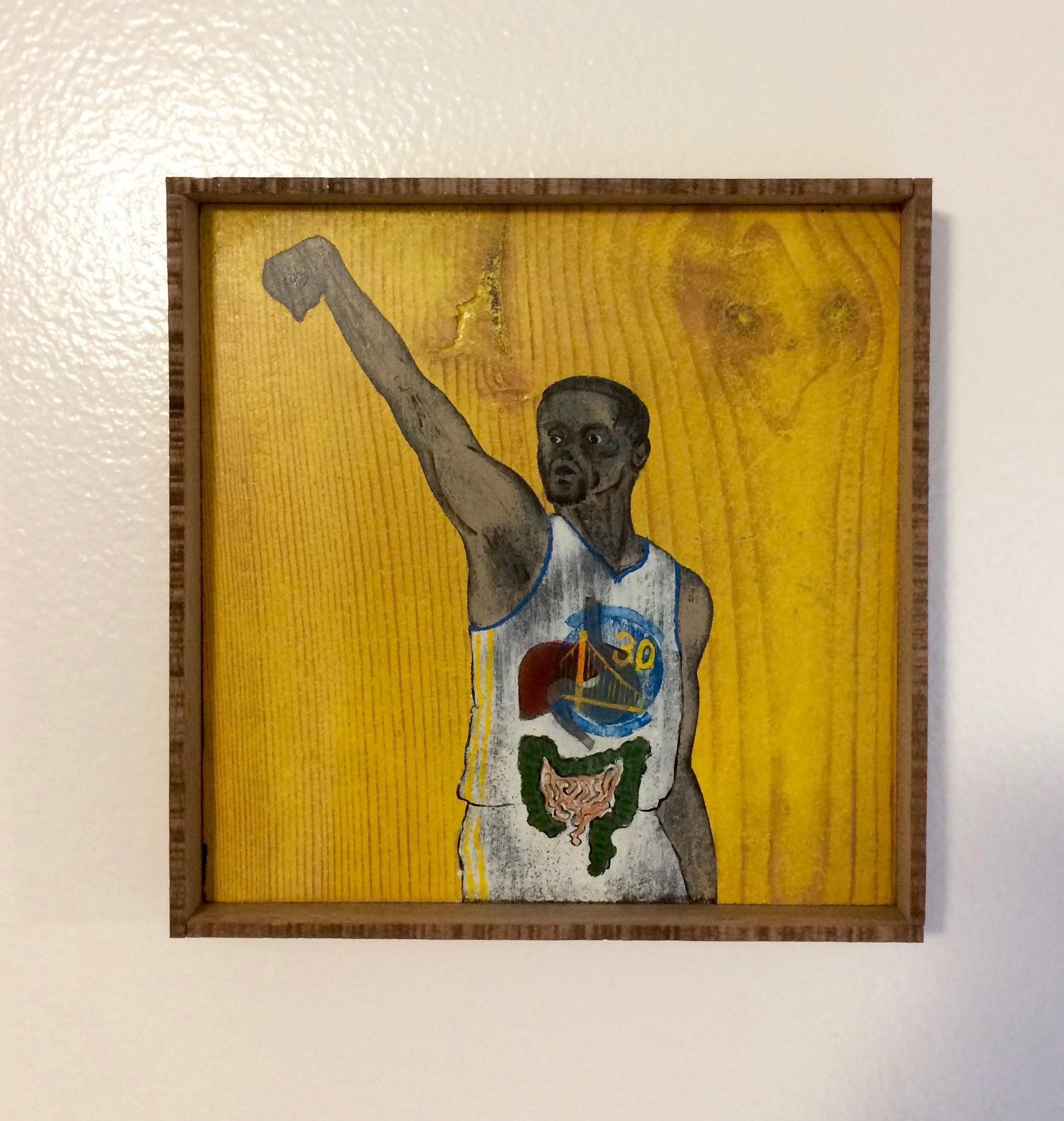 NBA Anatomy // Stephen Curry // NBA Art // Painting //