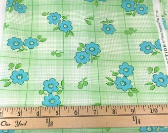 Green,Blue, Flowers, Floral, Picnic and Fairgrounds, DS Quilts Collections by Denyse Schmidt for Fabric Traditions, 1 Yard
