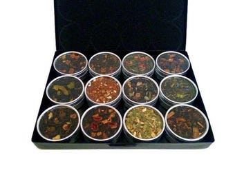 TEA SAMPLER, Mother's Day gift, flavored teas, for her, organic tea, Tea gift box, tea lover, loose leaf tea, tea gift set, tea bags #2
