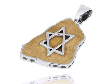 Handmade silver pendant with the Star of David