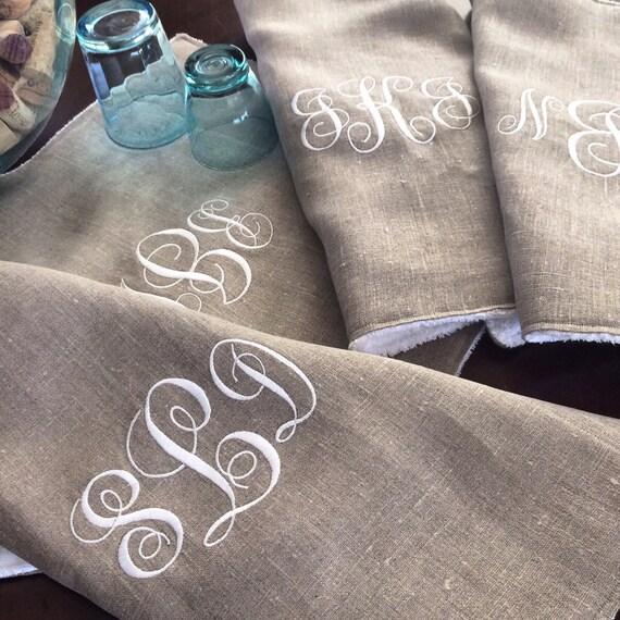 Personalized Linen Dishtowels