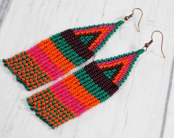 African gifts africa earrings persian jewelry afrocentric earrings egyptian earrings dangling earrings Tibetan jewelry Triangle earrings