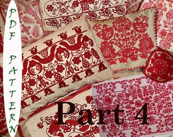 7 Hungarian Transylvanian vintage embroidery patterns
