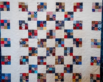 The Betty D - a Quilt Pattern , using either yardage or scraps!
