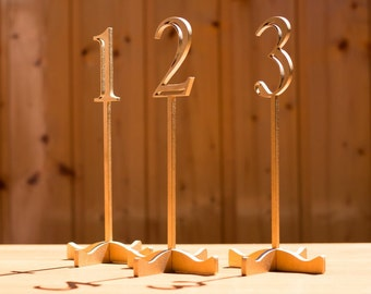 "Table Numbers, Wedding Table Numbers, Custom Table Names 12"" in height"