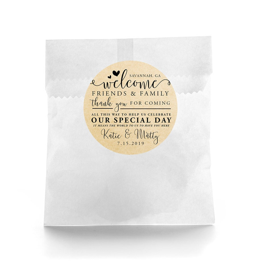 Wedding Favor Stickers Personalized Wedding Favor Labels