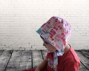 Sun bonnet, Reversible bonnet, Designer fabric bonnet, Summer sunhat, Baby girl bonnet, Cotton bonnet, Code: Yoko-02, MATYkids, Photo prop