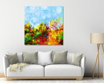 Floral Abstract Art Print, Giclee Print of Abstract Painting, Abstract Wall Art, Canvas Print, Contemporary Art for Wall Decor