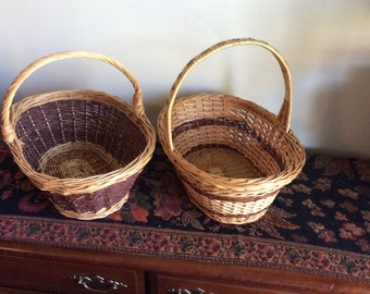 2 wicker baskets